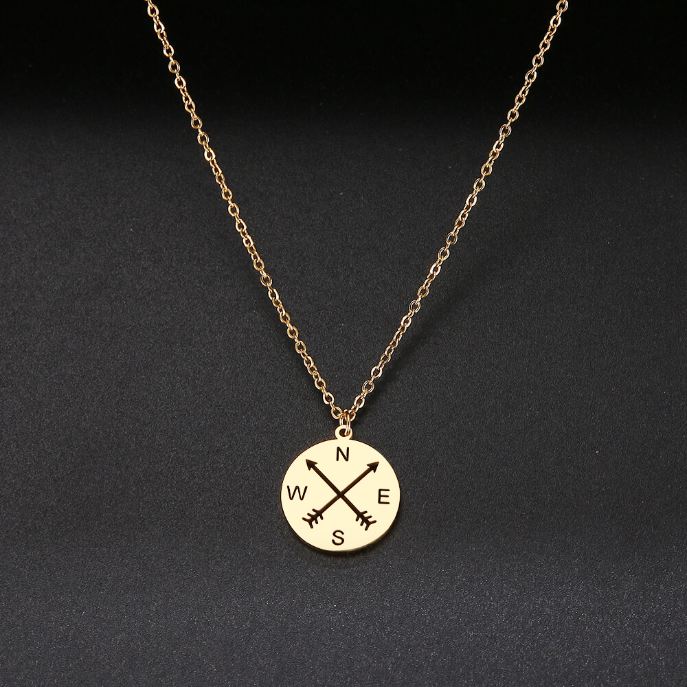 This is compass necklace.