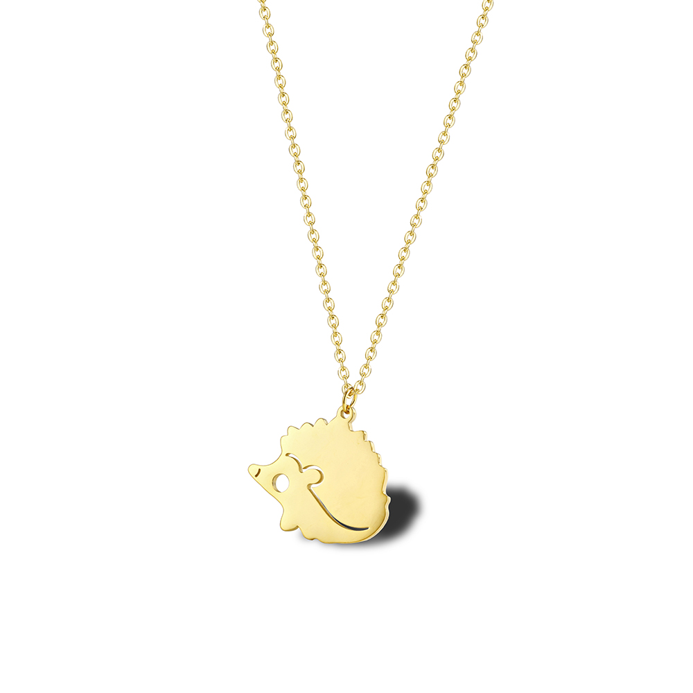 This is a hedgehog pendant necklaces.