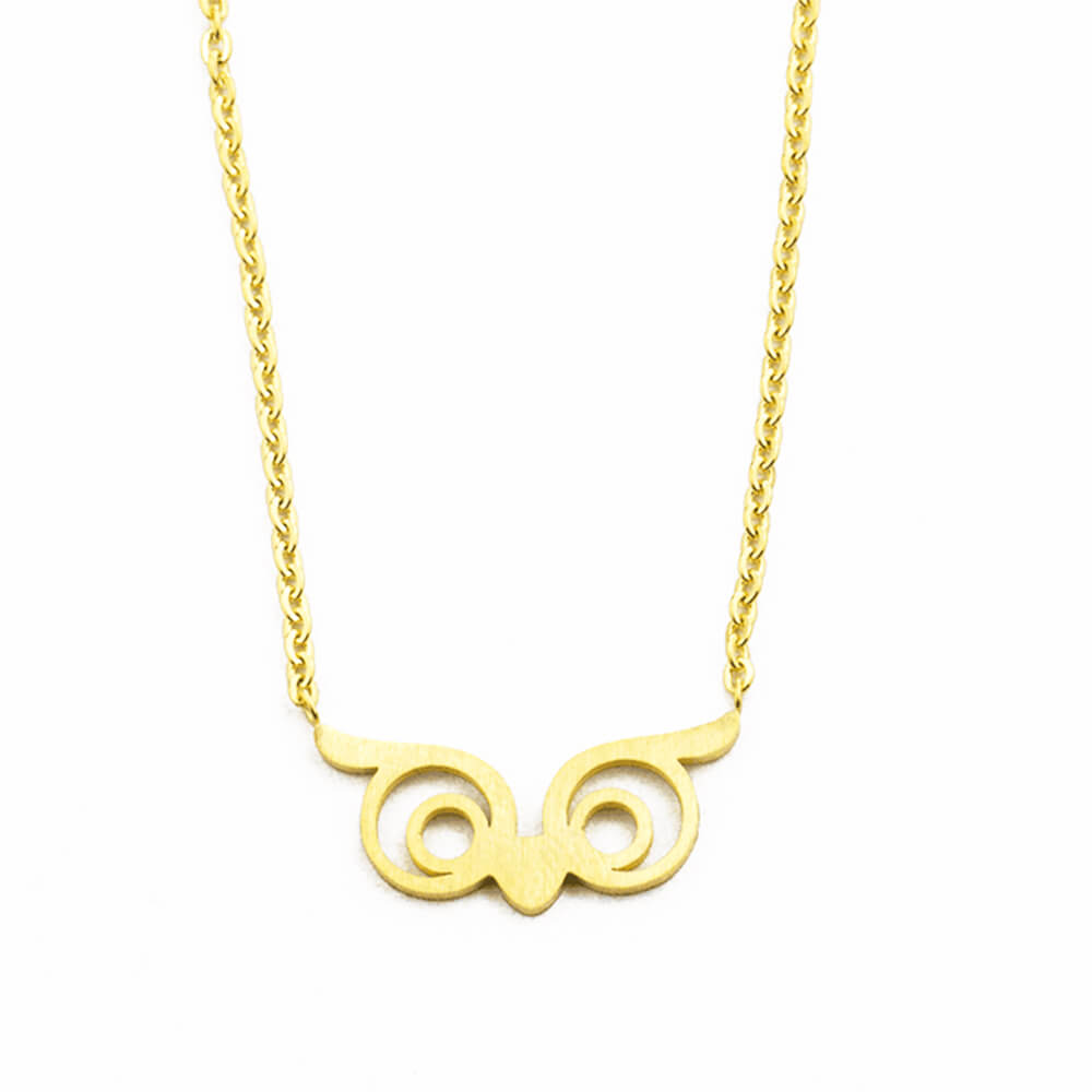 Gold Plated Owl Charms Necklace
