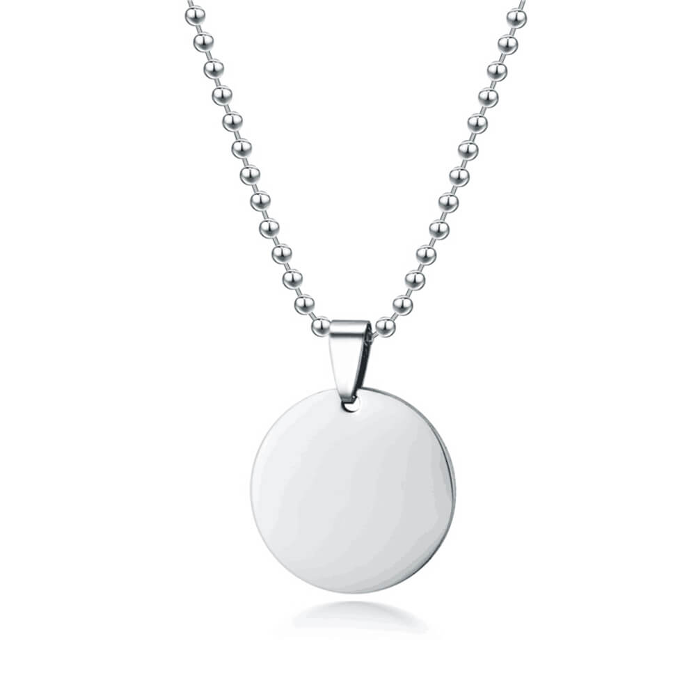 Silver Color Coin Pendant Necklace