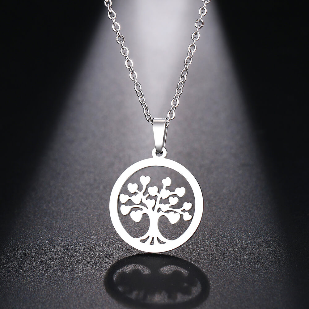 This is heart tree of life necklace.