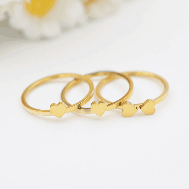 Gold Plated Heart Shape Ring