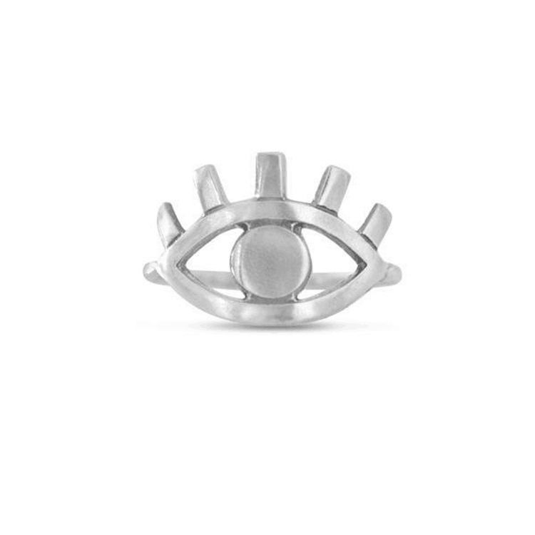 Silver Color Angel Eye Ring