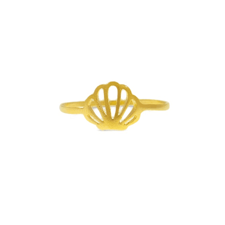 Gold Plated Women Seashell Ring