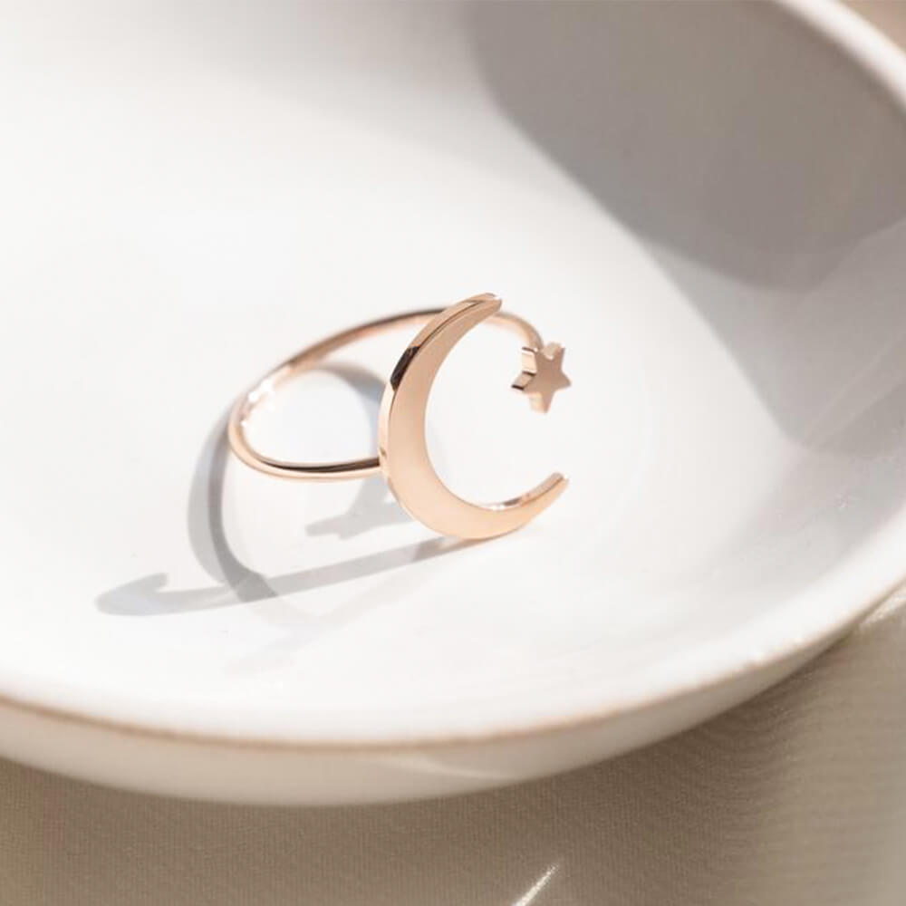 This is star moon open ring.