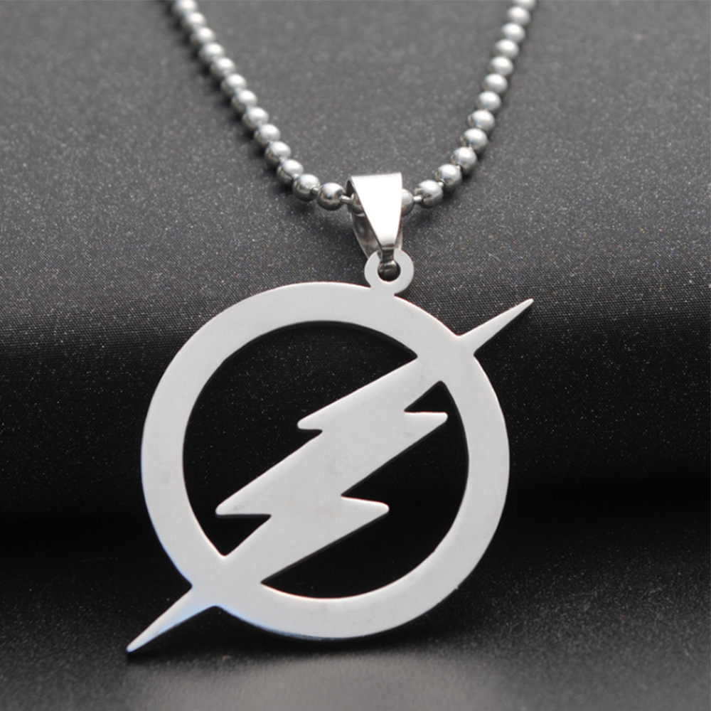 round lightning necklace