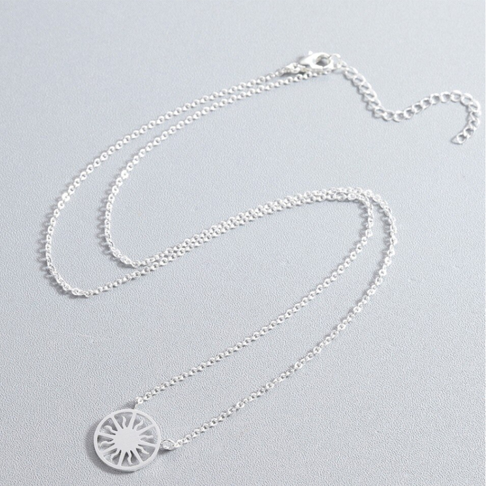 round sun necklace