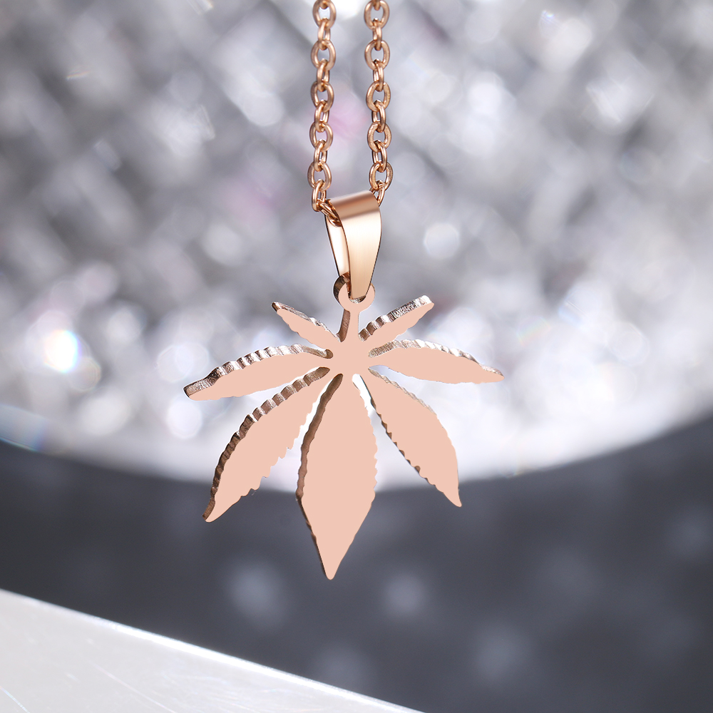 This is a maple leaf pendant necklaces.
