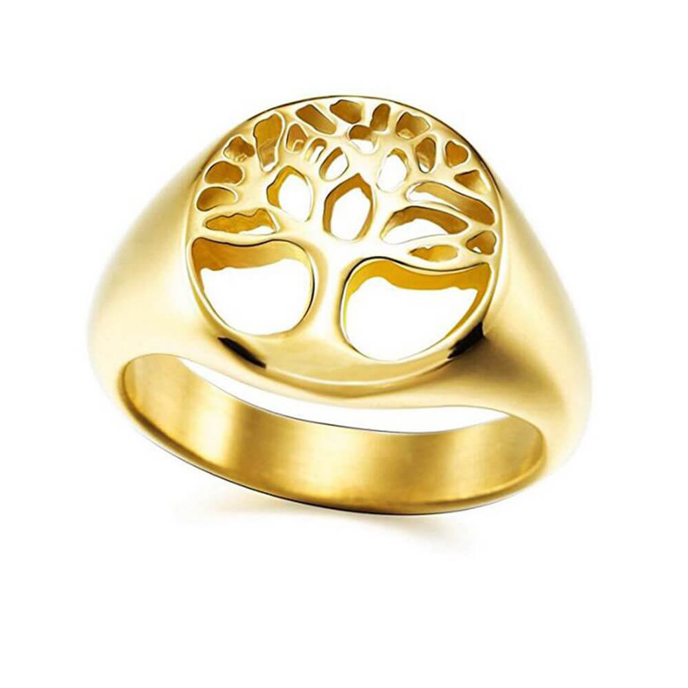 Gold Color Tree Of Life Ring