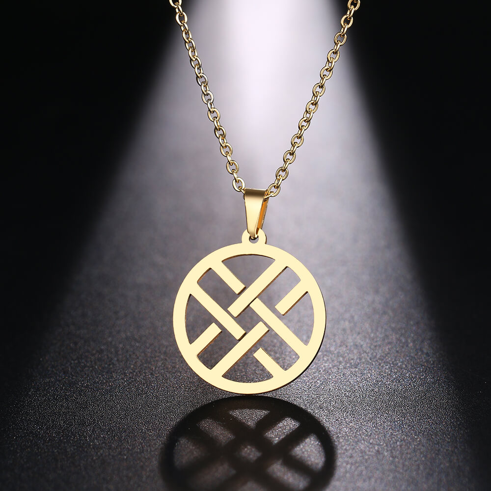 This is hollow geometry pendant.