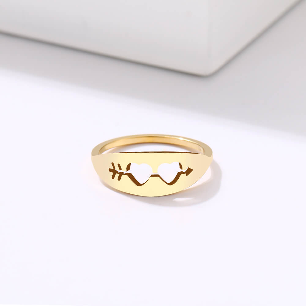 This is heart ring for you.