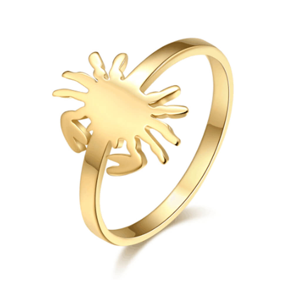 Gold Plated Nrab Shape Ring