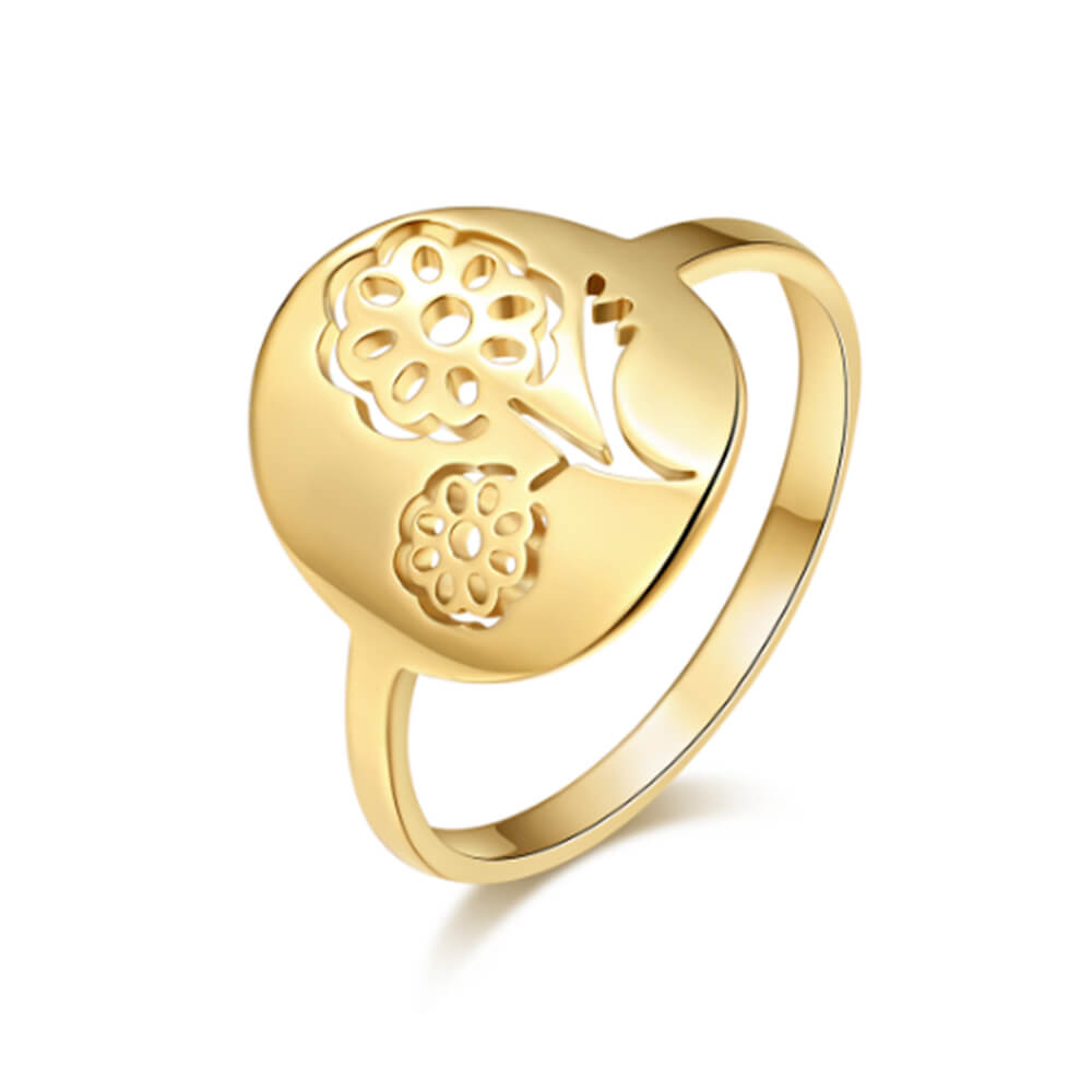 Gold Plated Flowers Shape Ring