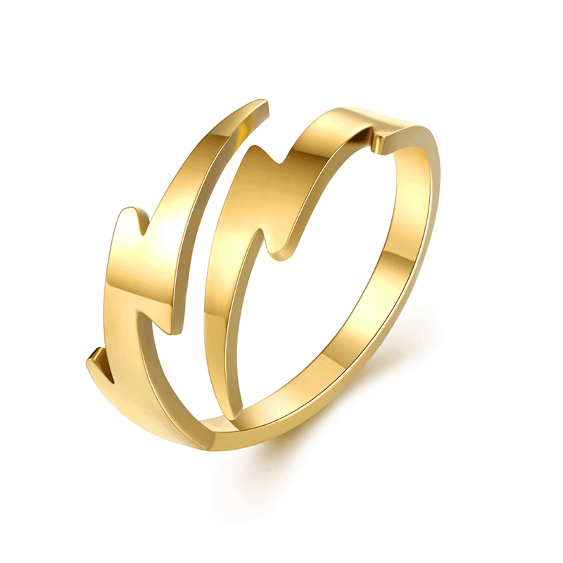 Gold Plated Lightning Ring