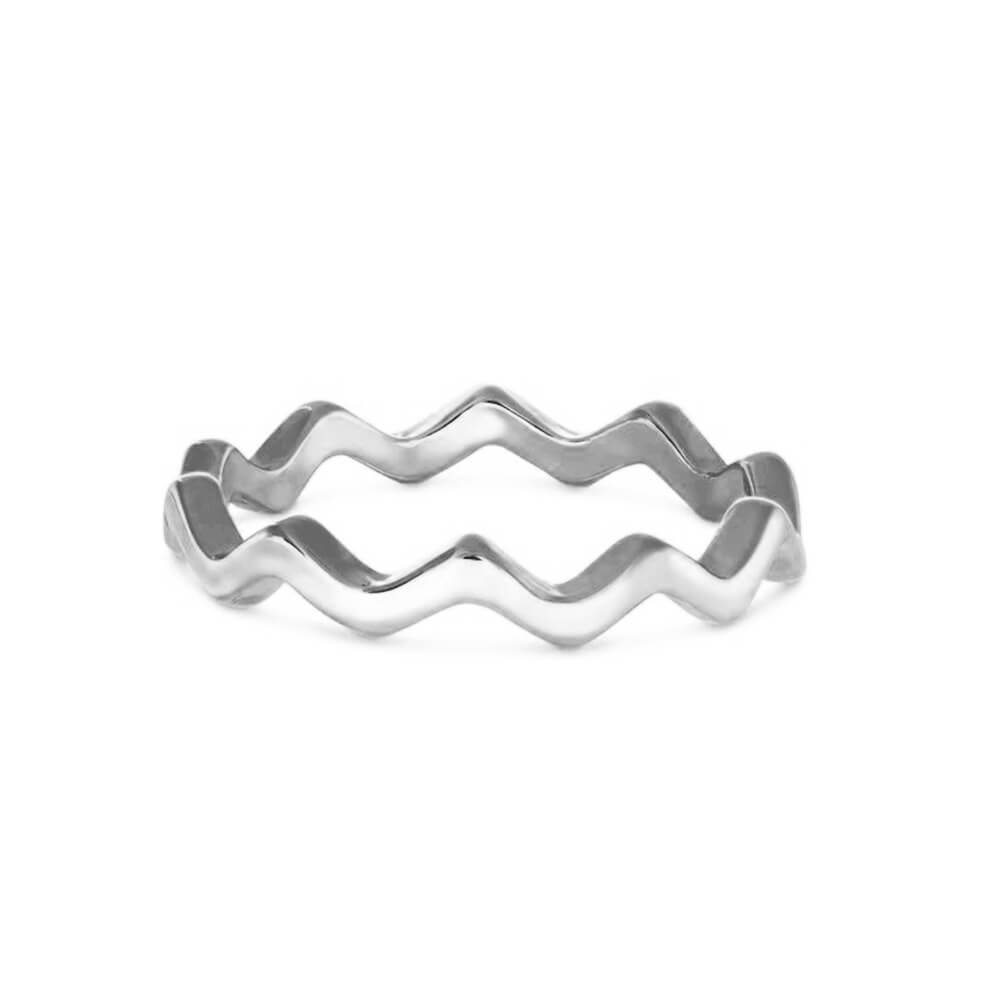 Stainless Steel Wave Ring