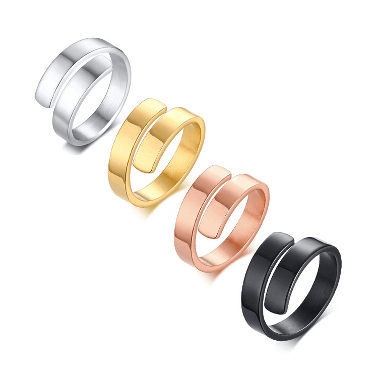 Engraving Letter Adjustable Rings