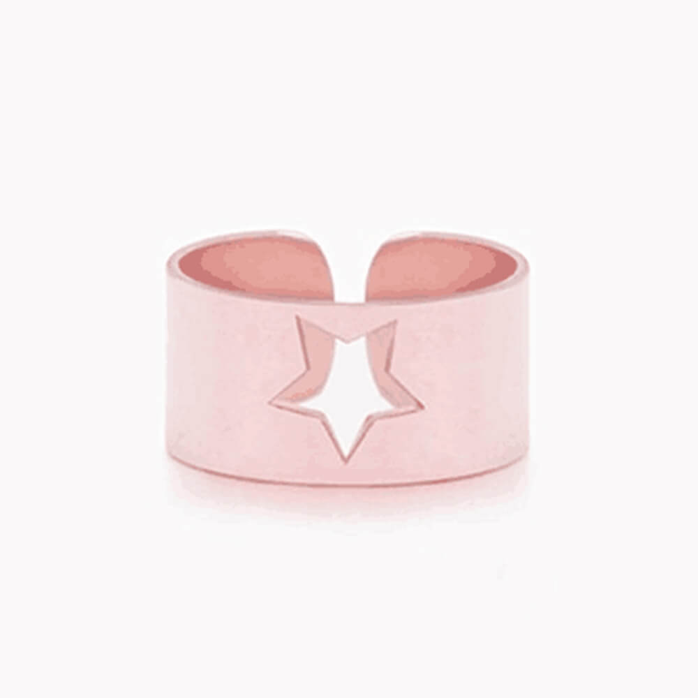 Rose Gold Color Hollow Star Ring