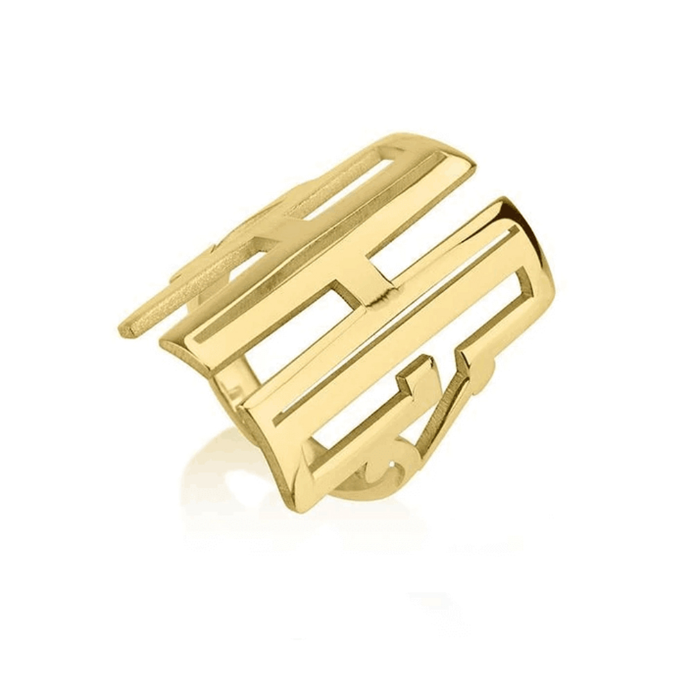 Gold Plated Monogram Ring