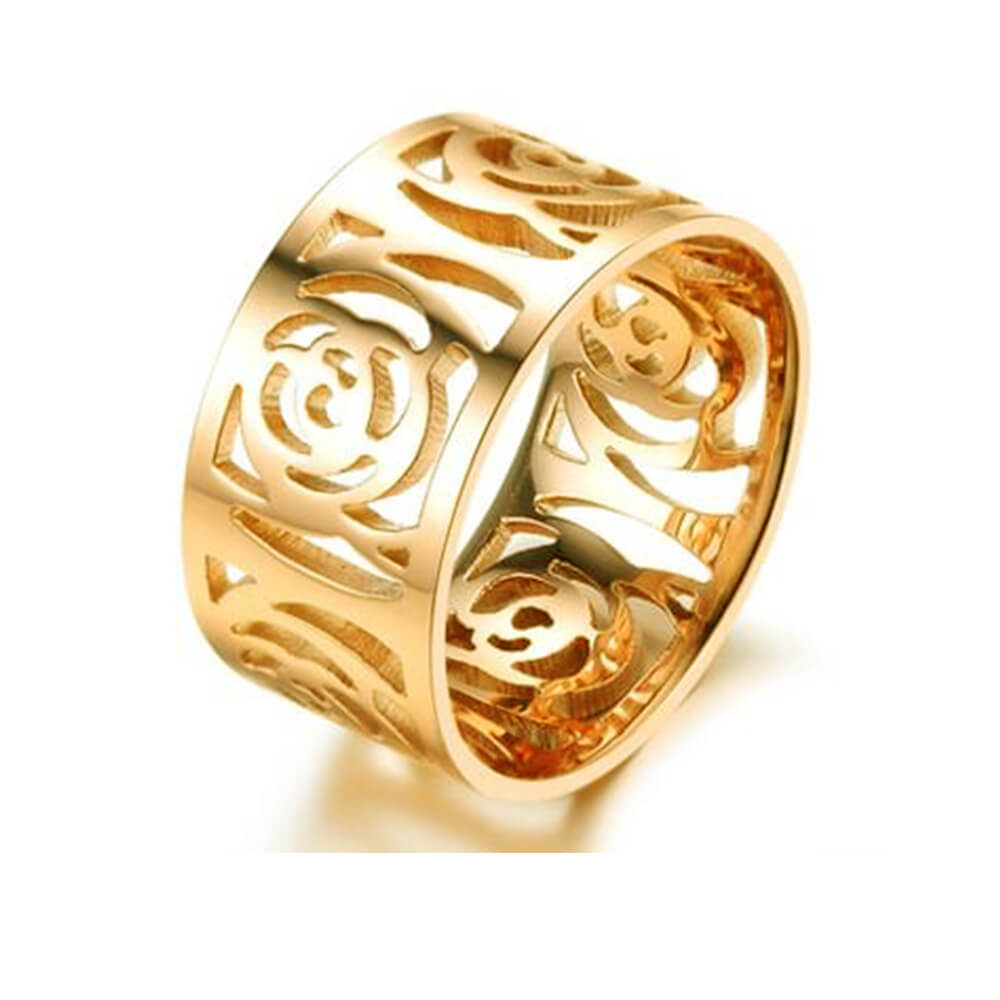 Gold Plated Flower Finger Ring