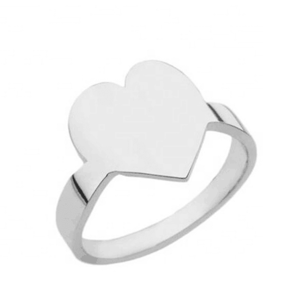 Silver Color Heart Ring