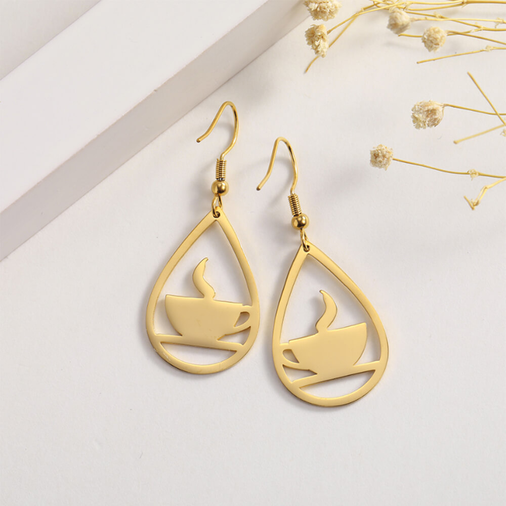coffe earrings
