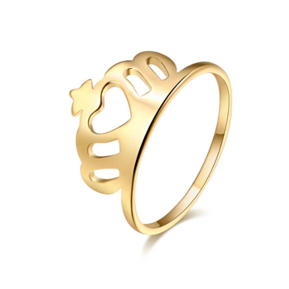 Gold Plated Crown Ring
