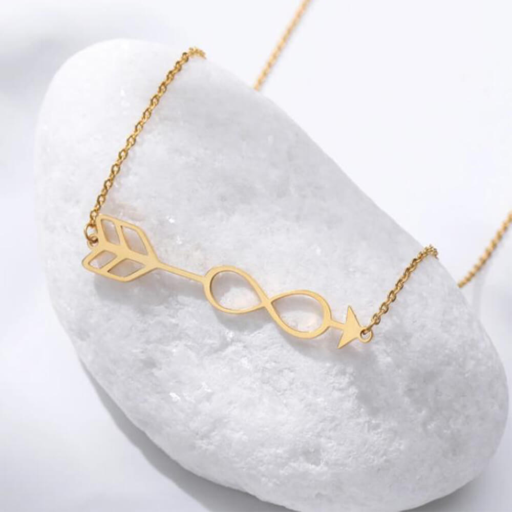 This is arrow shape infinity necklace.