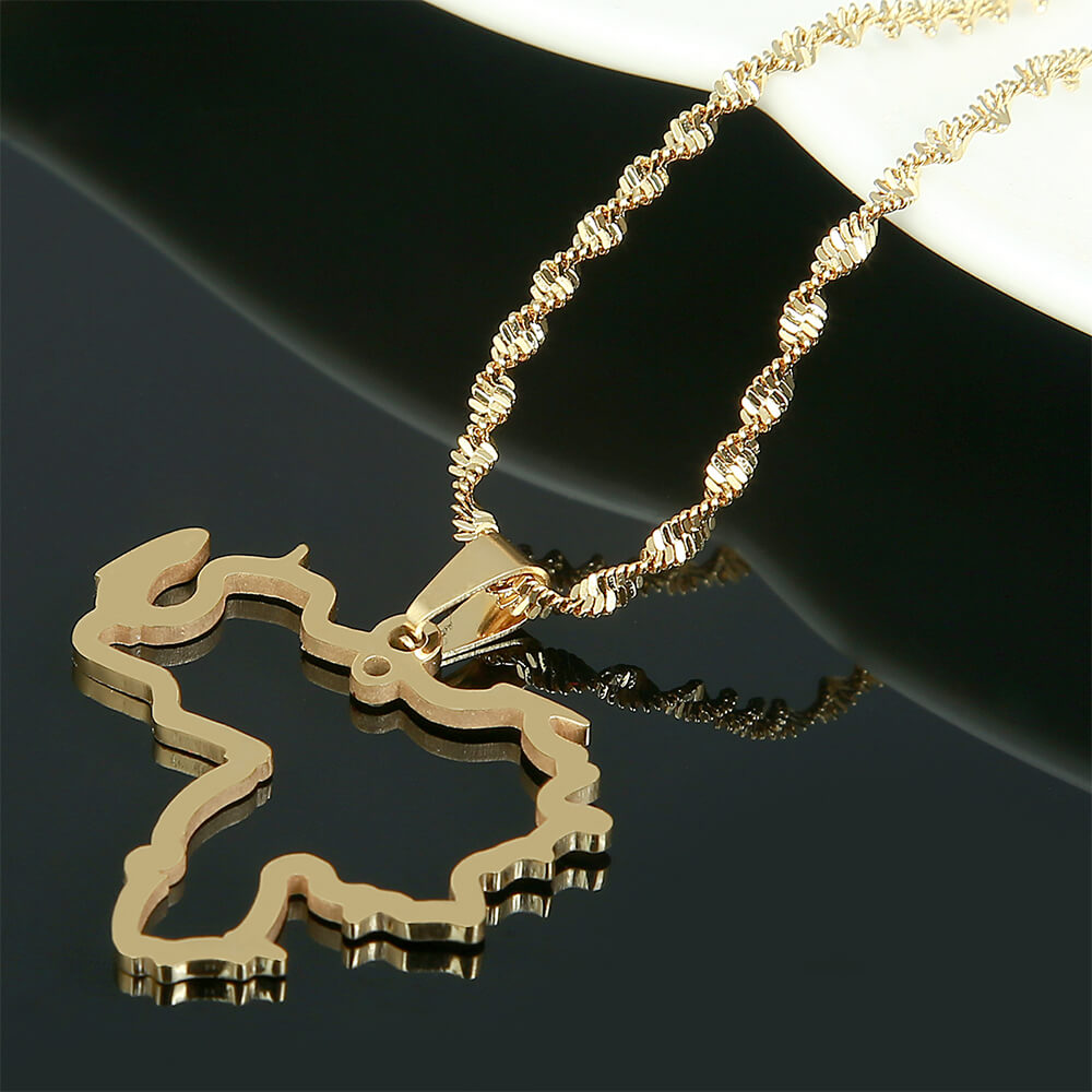 This is map necklace.
