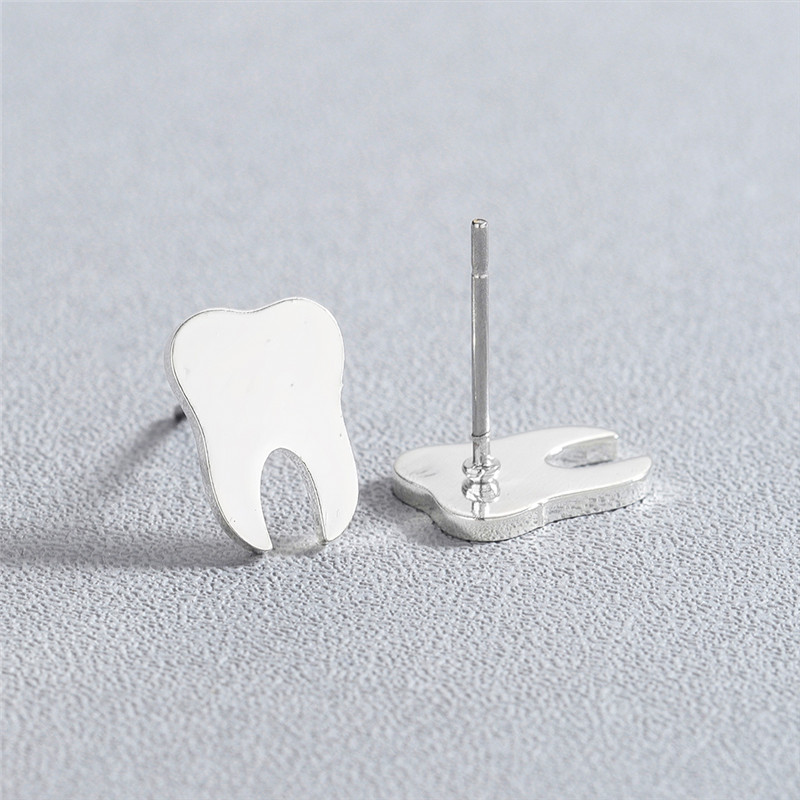 Tooth Stud Earrings