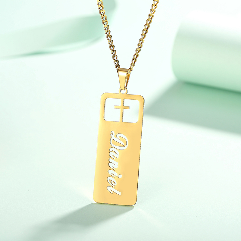 Custom Name Cross Necklace