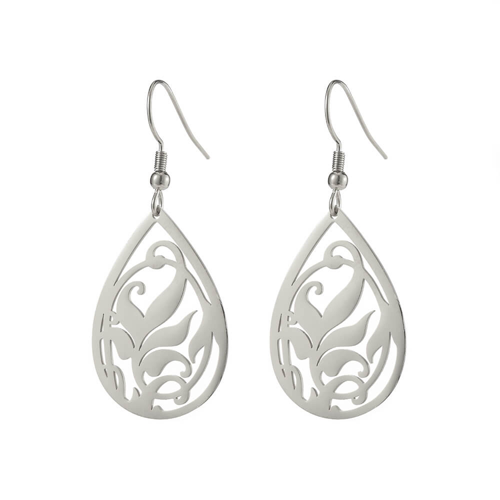 Silver Color Drop Earrings