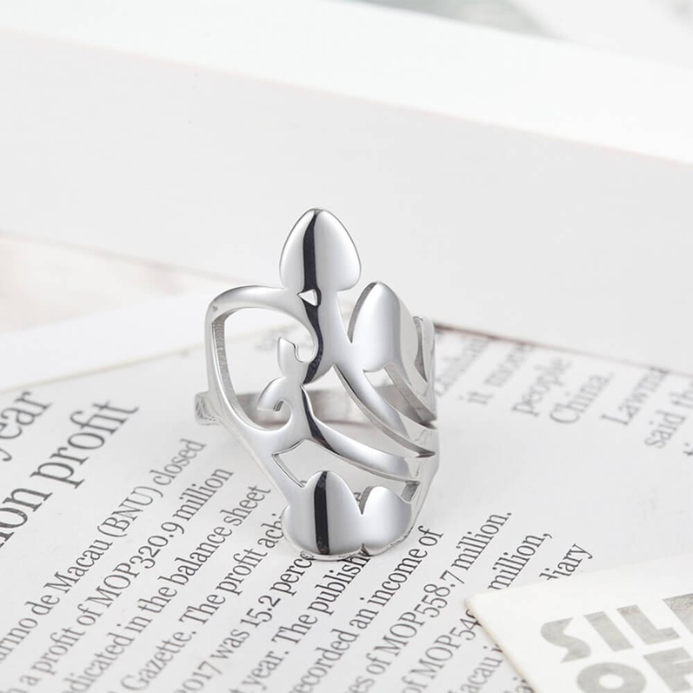 crown heart rings