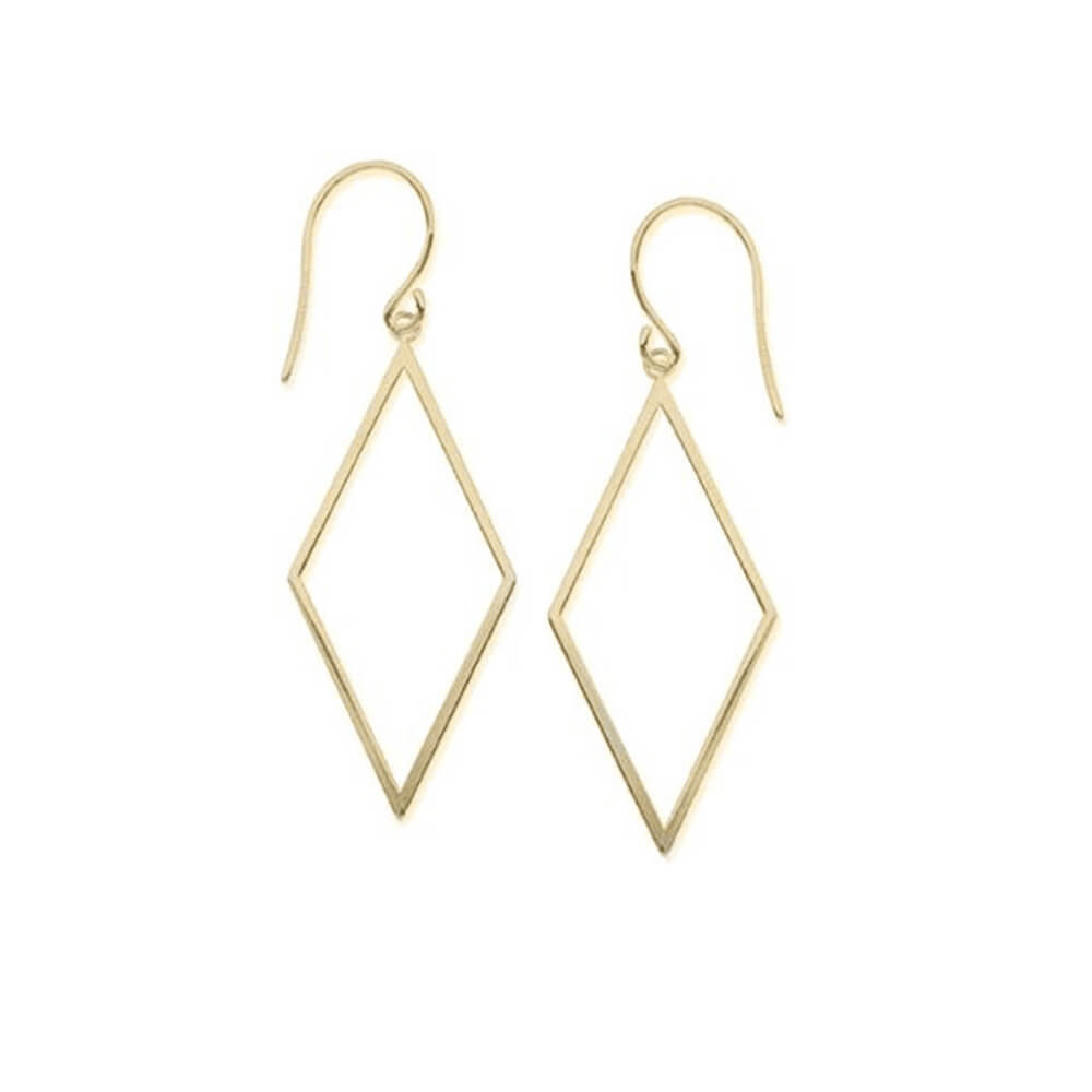 Gold Color Drop Geometric Hook Earrings