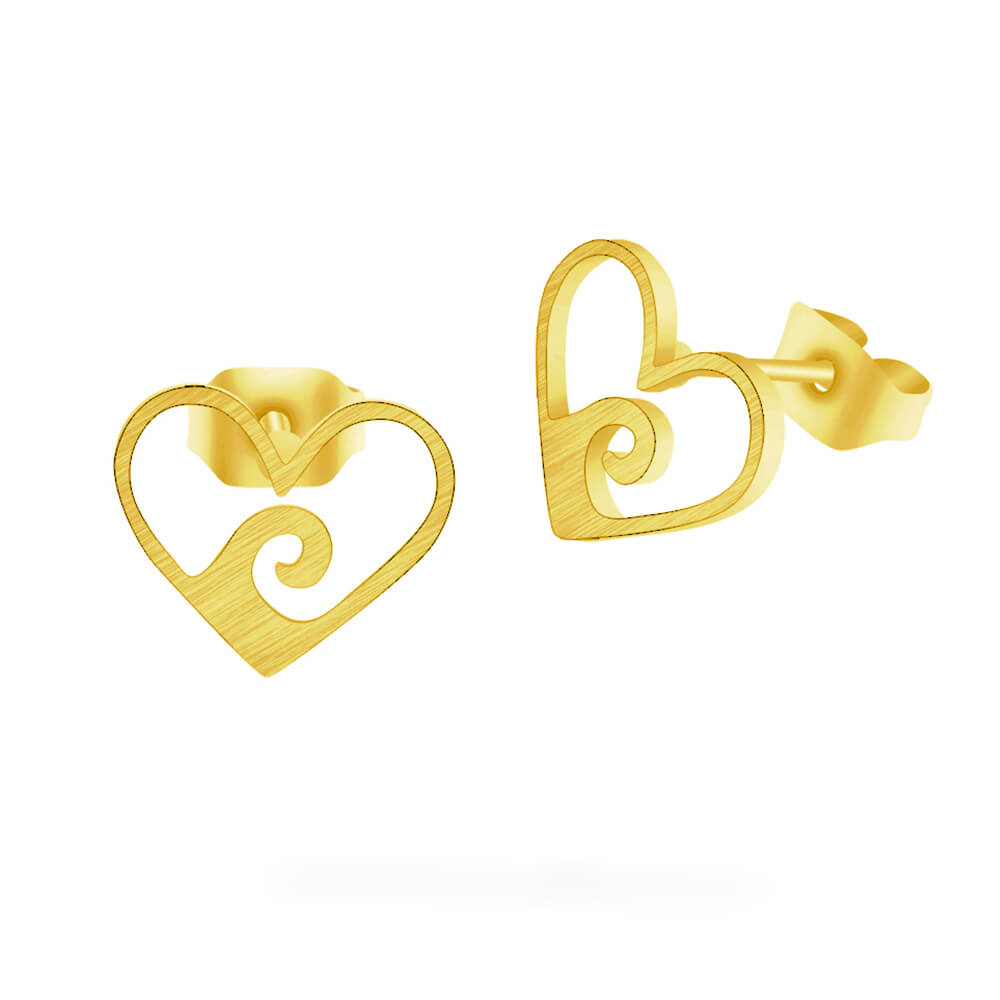 Gold Color Wave Earring