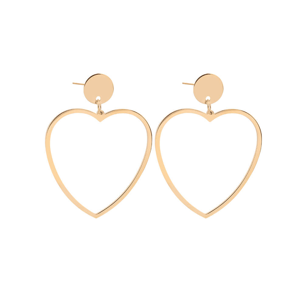 Gold Plated Heart Earring