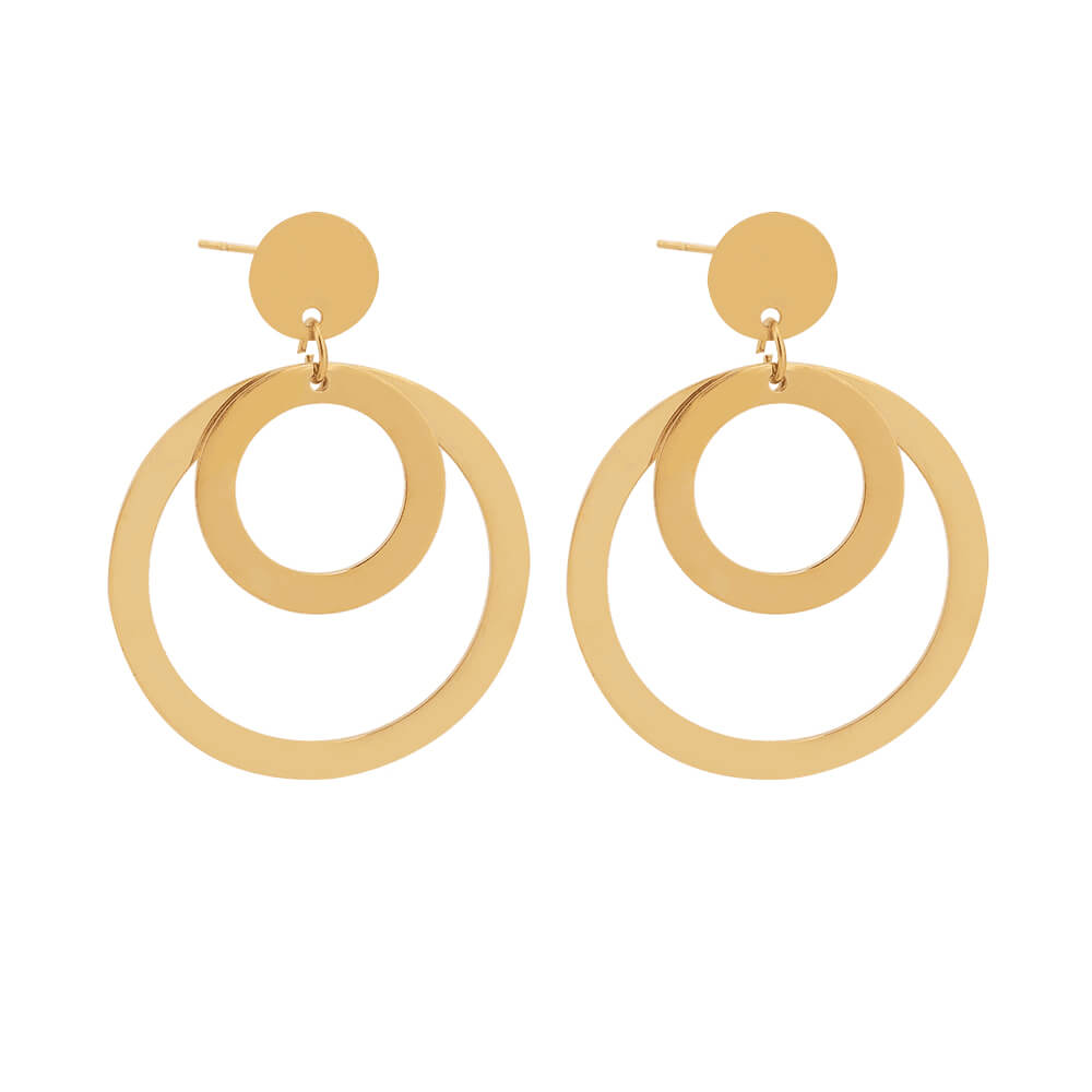 Gold PLated Women Hoop Earrings