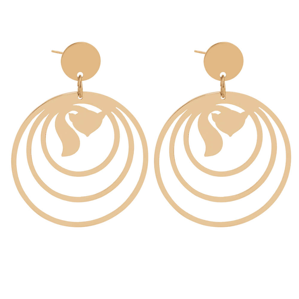 Gold Plated Animal Earrings