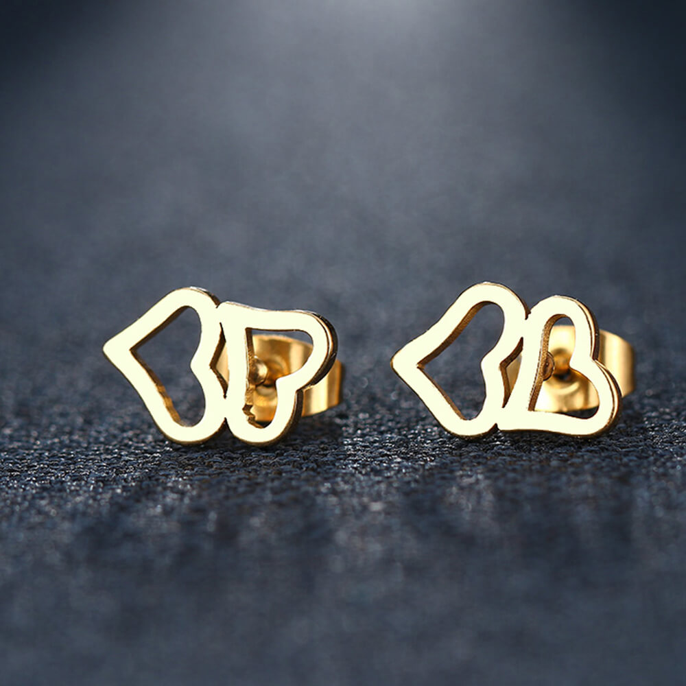 Gold Plated Bowknot Earrings