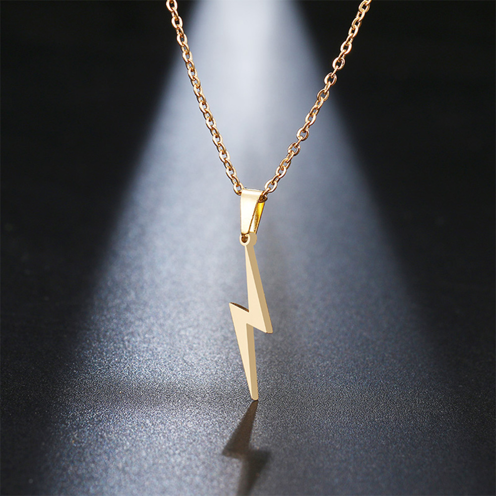 This is lightning pendant necklace.