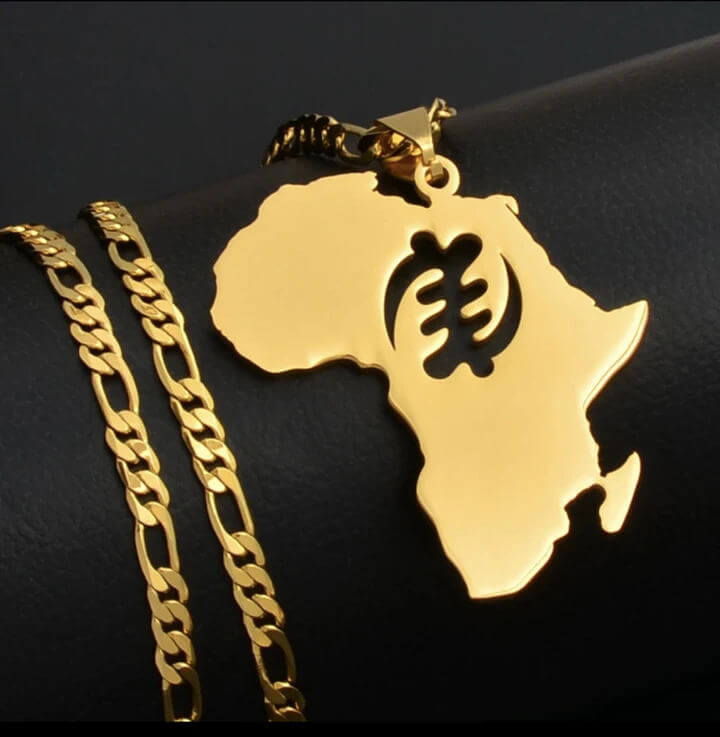 This is the Africa map necklace pendant.