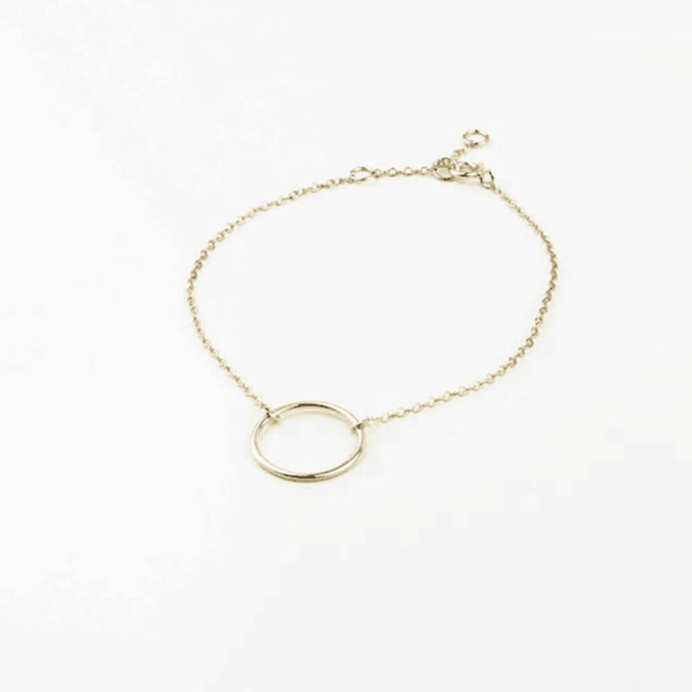Gold Plated Round Coin Bracelet