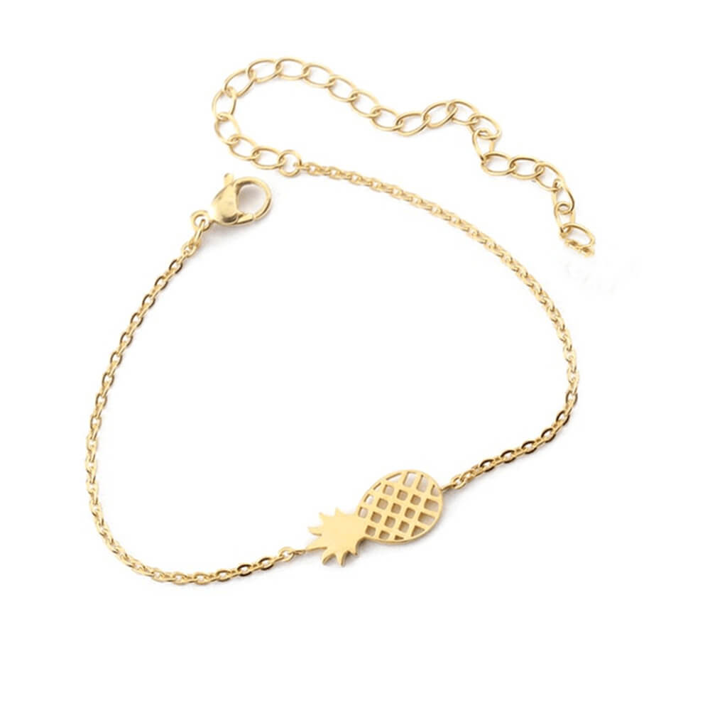 Gold Color Pineapple Bracelet